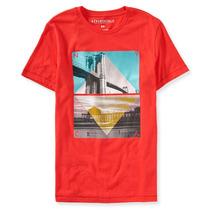 Camiseta Básica Aeropostale: Tamanho M Nova Original