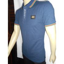 Camisa Polo Gucci Slim Fit Masculino - Original Pta. Entrega