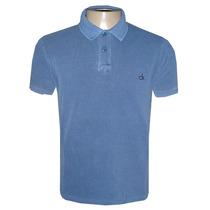 Camisa Polo Calvin Klein Azul Escuro Lisa Ck12