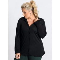 Blusa Plus Size Preta ( Roupa Tamanhos Grandes )