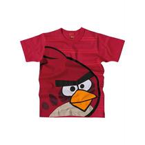 Blusa Camisa Malha Infantil Hungry Birds Personagens Menino