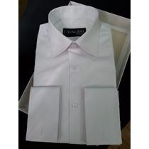 Camisa 100% Algodão Fio 80 Punho Simples E Duplo. 42 Cores