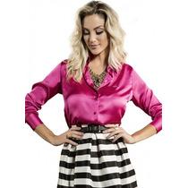 Blusa Fashion De Cetim Feminina Principessa Rafaele