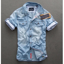 Camisa Jeans Masculina Scotch & Soda Pronta Entrega Clara