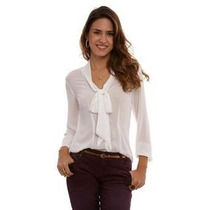 Camisa Social De Seda Feminina - Tipo Dudalina