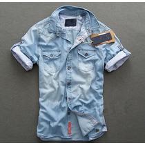 Camisa Jeans Blusa Jaqueta Deivid Beckham S & S - Importada