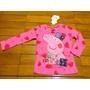 Camisa Em Malha Encorpada Estampa De Corações Peppa Pig