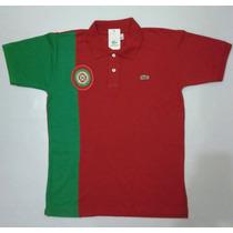 Camisa Polo Lacoste País Portugal Bordada Frete Gratis