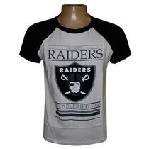 Camiseta Oakland Raiders Branca E Preta