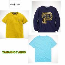 Camisa Algodao Ralph Lauren Menino Original Pronta Entrega