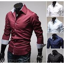 Camisa Social De Luxo Slim Fit Importada Frete Grátis