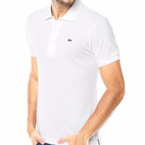 Camisa Polo Lacoste Original Live Azul Branca