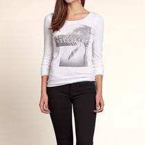 Camisa Camisetas Feminina Hollister Original Abercrombie