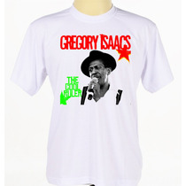 Camiseta Camisa Personalizada Banda Reggae Gregory Isaacs