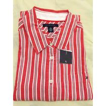 Blusa Social Tommy Hilfiger Tamanho M Feminina Botão Camisa