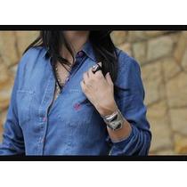 Camisa Feminina Jeans Manga Longa Dudalina