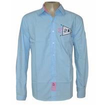Camisa Social La Martina Azul Claro