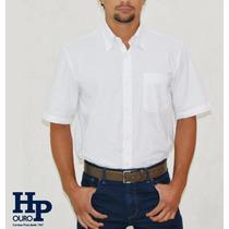Camisa Social Manga Curta Masculina Hp Nacional Loja Fisica
