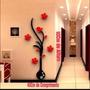Novidade-flor 3d Tridimensional Plastico Adesivos Decorativo