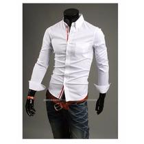 Camisa Social Slim Fit Importada 4 Cores Frete Grátis!