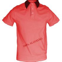 Camisa Polo 100% Algodão Gola Diferenciada Frete Grátis