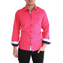 Camisa Slim Fit Dml ( Pronta Entrega) Pink Fio 50