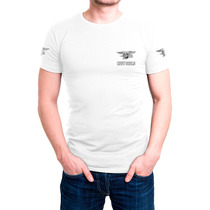 Camisa Camiseta Branca Bordada - Navy Seals