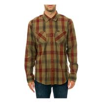 Rvca Mens The Warehouse Ls Botão De Camisa
