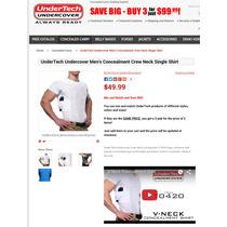 Camisa Com Coldre Importada Original Marca Undertech Usa