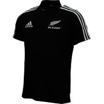 Camisa Pólo Preta Adidas Rugby All Blacks Nova Zelandia
