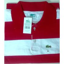 Atacado Kit Com 3 Camisa Gola Polo Masculina Lacoste