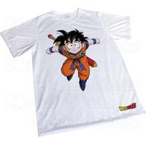 Camisa Sublimação Branca Presente Dragon Ball - Goku