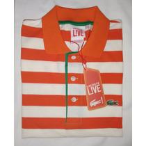Camisa Gola Polo Lacoste Listrada - Original