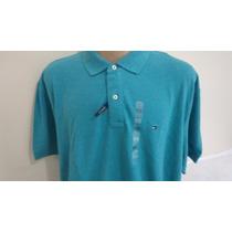 Camisa Polo Tommy Hilfiger Tam Xxl Cor Azul Esverdeado Orig