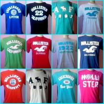 Camisetas Kit C/ 5 Hollister E Abercrombie