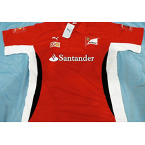 Camisa Ferrari Santander F1 Vermelha