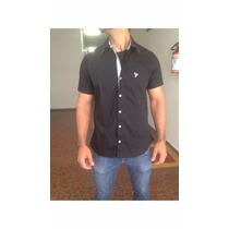 Camisa Masculina Lisa Manga Curta (ref 617)