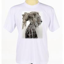 Camisa Personalizada Leão Rastafari Camiseta Reggae