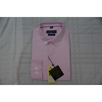Camisa Social Masculina Polo Rauph Lauren, Cor Rosa ,