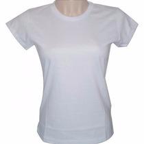 Camiseta Baby Look Feminina Para Sublimação 100% Poli Blusa