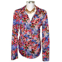Camisa Feminina Manga Comprida Dudalinda Flor Estampa Floral