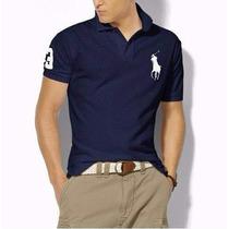 Polo Original Hollister Azul Ralph Lauren Abercr Camiseta