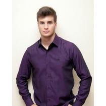 Camisa Maquineta Roxa/preto