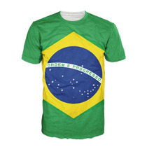 Camisa Bandeira Do Brasil Camiseta Futebol Brazil Diferente