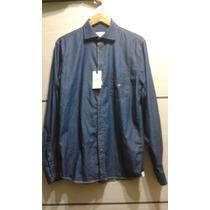Camisa Jeans Brooksfield Nova (com Etiqueta)