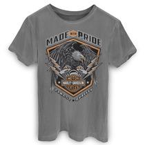T-shirt Premium Harley Davidson - Made Pride 0290 - Promocao