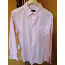2 Camisas Sociais Lindas Uma Azul E Uma Rosa - Preço P 2