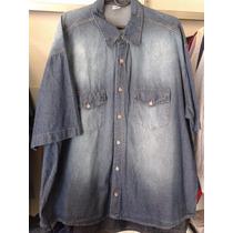 Camisa Jeans Masculina Tamanhos Grandes Xxg