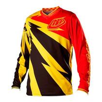 Camisa Troy Lee Gp Cyclops Amarela Motocross Trilha Enduro