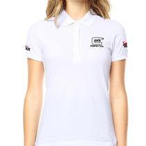 Camisa Gola Polo Glock Perfection - Branca Feminina